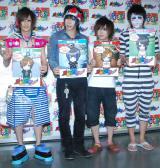 全国ツアー最終公演前の取材に応じた(左から)喜矢武豊、歌広場淳、鬼龍院翔、樽美酒研二