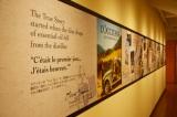 4階は日本初のロクシタンギャラリー「ミュゼ ロクシタン」 壁にはロクシタンの歴史が年表のように描かれている