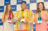 (左から)道端カレン、KONISHIKI&千絵夫妻 (C)ORICON NewS inc.