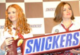 7年ぶりに来日したt.A.T.u.=チョコレートブランド『スニッカーズ』新CM発表会 (C)ORICON NewS inc.
