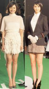 美脚競演で注目を集めた(左から)長澤まさみ、山崎紘菜 (C)ORICON NewS inc.