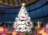 六本木ヒルズ展望台・東京シティビューで11月29日より設置される、大型クリスマスツリーのイメージ図