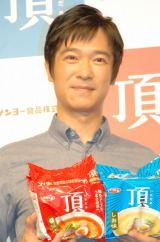 サンヨー食品『サッポロ一番 頂』新CM発表会に出席した堺雅人 (C)ORICON NewS inc.