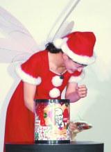 オーナメントを「オートメント」を言い間違え爆笑=KFCクリスマスキャンペーン新CM発表会 (C)ORICON NewS inc.