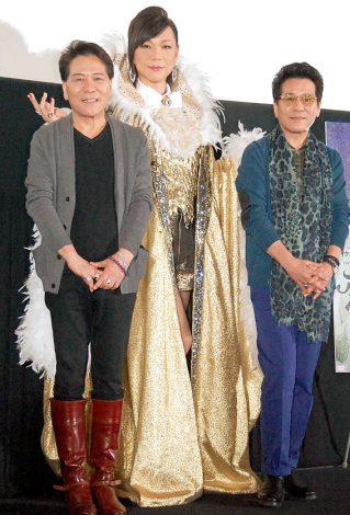 映画『恋するリベラーチェ』の公開直前イベントに出席した(左から)おすぎ、ミッツ・マングローブ、ピーコ (C)ORICON NewS inc.
