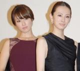 映画『ルームメイト』完成披露会見&舞台あいさつに出席した(左から)深田恭子、北川景子 (C)ORICON NewS inc.