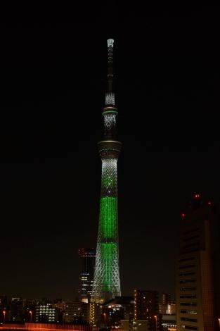 東京スカイツリーが「ホワイトツリー」に