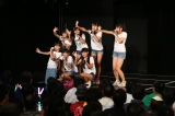 チームKII公演の前座として出演したドラフト候補生たち(4日=SKE48劇場)(C)AKS