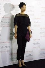 ファッションイベント『Marvelous Max Mara Tokyo 2013』に来場した水沢エレナ (C)ORICON NewS inc.