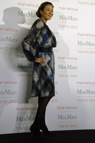 ファッションイベント『Marvelous Max Mara Tokyo 2013』に来場したRIKACO (C)ORICON NewS inc.