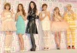『ネイルクイーン 2013』を受賞した(左から)南明奈、中村アン、萬田久子、ローラ、板野友美、イ・ホンギ(FTISLAND) (C)ORICON NewS inc.
