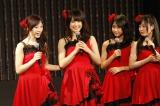 研究生公演で初センターの意気込みを語った渋谷凪咲(左から2人目)