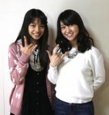 チームKドラ1後藤萌咲さんとキャプテン大島優子が「チームK」ポーズ (C)AKS