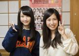SKE48チームEリーダーの松井玲奈と1位指名の小石公美子さん(C)AKS