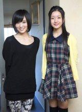NMB48チームNキャプテンの山本彩と1位指名の須藤凛々花さん(C)AKS