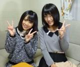 NMB48チームBII 1位指名の磯佳奈江さんとキャプテンの上枝恵美加(C)AKS