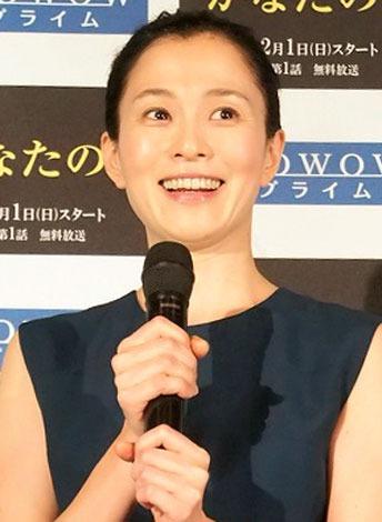 WOWOWの連続ドラマW『かなたの子』の第1話の完成披露試写会に出席した坂井真紀 (C)ORICON NewS inc.