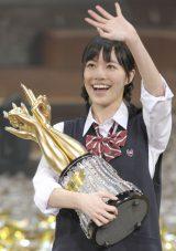 じゃんけん大会で優勝した松井珠理奈(撮影:鈴木かずなり)