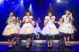 初のオリジナル公演初日を迎えたNMB48チームN(前列左から小笠原茉由、渡辺美優紀、山本彩、吉田朱里)(C)NMB48