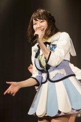 初のオリジナル公演初日を迎えたNMB48チームNの小笠原茉由(C)NMB48