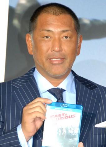 映画『ワイルド・スピード EURO MISSION』のブルーレイ&DVD発売イベントに出席した清原和博