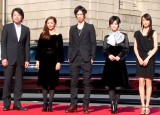 映画『黒執事』レッドカーペットイベントに出席した(左から)大谷健太郎監督、優香、水嶋ヒロ、剛力彩芽、山本美月 (C)ORICON NewS inc.
