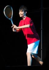 外郎売を朗読しながらエアテニスのパフォーマンスを披露した國島直希さん  (C)ORICON NewS inc.