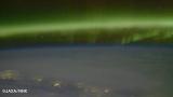 国際宇宙ステーション(ISS)から撮影したオーロラ(c)JAXA/NHK