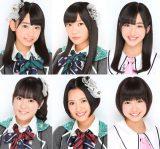 第5代青森りんごクイーンに決定したHKT48(左上から時計回りに)宮脇咲良、指原莉乃、田島芽瑠、朝長美桜、兒玉遥、多田愛佳