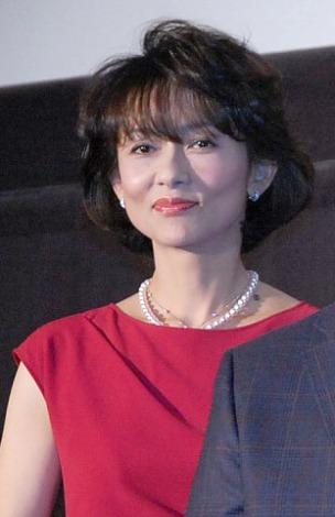 映画『あさひるばん』の初日舞台あいさつに出席した斉藤慶子 (C)ORICON NewS inc.