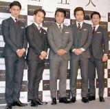 (左から)中村隼人、中村歌昇、片岡愛之助、尾上松也、中村壱太郎 (C)ORICON NewS inc.