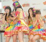 携帯カードゲーム『SKE48 Passion For You』新CM発表会に出席したSKE48 (C)ORICON NewS inc.