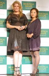 ダイエットサポートサプリメント『モリンガシェイプ』製品発表イベントに出席した(左から)カイヤ、美奈子 (C)ORICON NewS inc.
