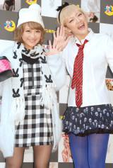 『ドン・キホーテ×PLAYBOY』オリジナル商品発表会に出席した(左から)鈴木奈々、みかん (C)ORICON NewS inc.