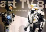 松平健がアンドロイドと初対面=KDDI『Smart TV Box』の新CM公開収録 (C)ORICON NewS inc.