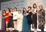 『VOGUE JAPAN Women of the Year 2013』を受賞した(左から)佐藤真海、スプツニ子、福島リラ、満島ひかり、八千草薫、壇蜜、大久保佳代子、CHIHARU、樹木希林 (C)ORICON NewS inc.