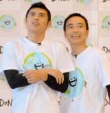 解散以来10年ぶり!コントを披露した(左から)小島よしお&かもめんたる・岩崎う大 (C)ORICON NewS inc.