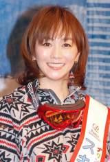 『プリンススノーリゾート2013-2014アンバサダー「スキーな夫婦」』任命式に出席した木佐彩子