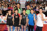 卓球対決には体操の白井健三ら2020 年五輪メダル候補が出場(C)テレビ朝日