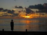 コスラエ島の美しい夕焼け=12月14日放送『太平洋の楽園をゆく 鶴田真由 ミクロネシア 魅惑の島めぐり』後編(C)NHK