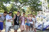 動画オリジナル番組『AAAのキズナ合宿』でシンガポールの名物絶叫マシーンに挑むAAAのメンバー