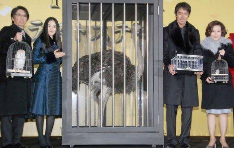 映画『トリック劇場版 ラストステージ』の完成披露イベントに出席した(左から)生瀬勝久、仲間由紀恵、阿部寛、野際陽子 (C)ORICON NewS inc.