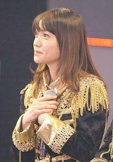 国立競技場の単独ライブ発表で、涙目になる大島優子(撮影:鈴木かずなり)