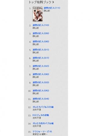 アップルが公開したコンテンツ「BEST OF 2013」ブックカテゴリTOP11は「進撃の巨人」