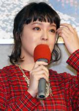NHKドラマ『桜ほうさら』記者会見中に感涙する貫地谷しほり (C)ORICON NewS inc.
