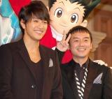 映画『劇場版HUNTER×HUNTER−The LAST MISSION−』クリスマスイベントに出席したゆず(左から)北川悠仁、岩沢厚治