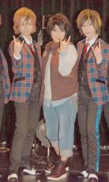 (左から)赤園虎次郎、美奈子、瀬斗光黄=風男塾のXmas Show『TOKYOチェンメンコレクション』 (C)ORICON NewS inc.