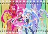 『ハピネスチャージプリキュア!』(真ん中左から)キュアラブリー、キュアプリンセス(後列左から)ラブリーがフォームチェンジした姿(ロリポップヒップホップ、チェリーフラメンコ)、プリンセスがフォームチェンジした姿(シャーベットバレエ、マカダミアフラダンス)(C)ABC・東映アニメーション