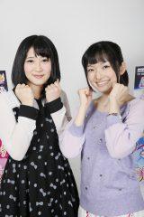 来年2月2日スタートの『ハピネスチャージプリキュア!』オープニング曲を担当する仲谷明香(左)、エンディング曲を担当する吉田仁美(C)ABC