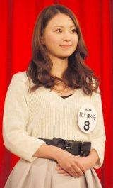 『Miss of Miss CAMPUS QUEEN CONTEST 2013』に出場した黒川璃々子さん (C)ORICON NewS inc.